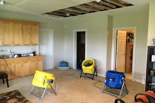 water damage dry out
