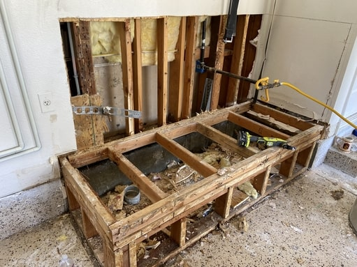 removal of all wet materials for water damage mitigation service