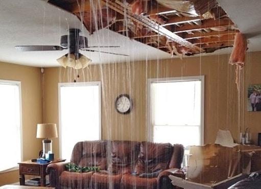 water leak in ceiling