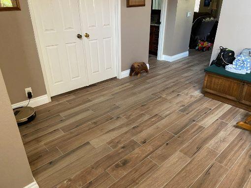 After restoration of water damaged floor