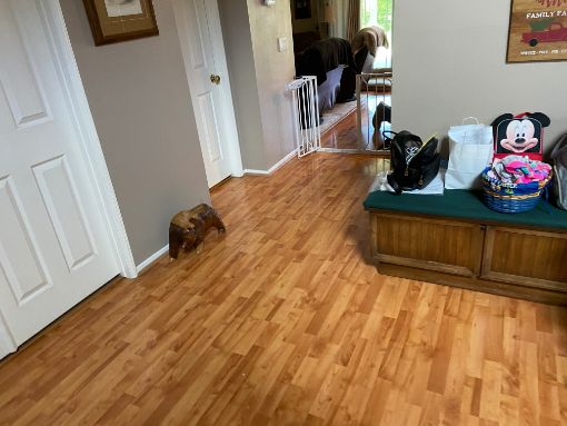 more of leak-damaged flooring